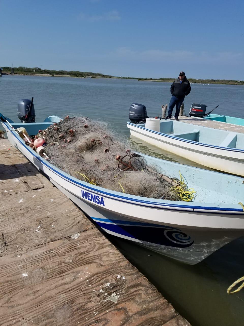 PAC-003-2019.-Decomisan inspectores de CONAPESCA y Secretaría de Pesca Tamaulipas instrumentos de pesca ilegal (2)